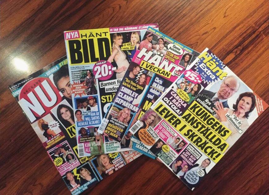 Ofta är tidningarna dessutom flera år gamla